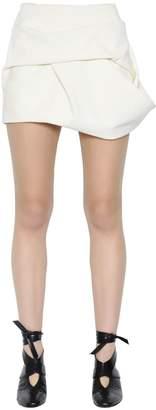 J.W.Anderson Faux Suede Draped Mini Skirt