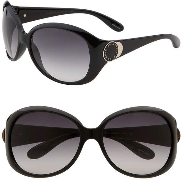 MARC BY MARC JACOBS Button Logo Oversized Sunglasses