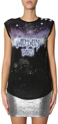 Balmain Constellation Print Top