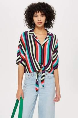 Topshop Beach Stripe Shirt