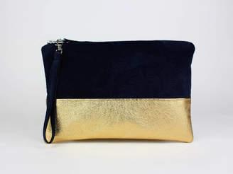 eb54b03d22d0 Navy Suede Leather Bag - ShopStyle UK