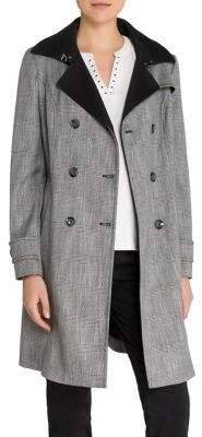 Olsen Plaid Trench Coat
