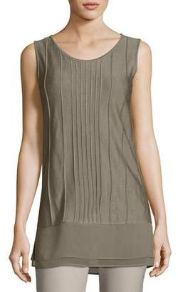 Nic+Zoe Textured Chiffon-Trim Tank Top, Plus Size