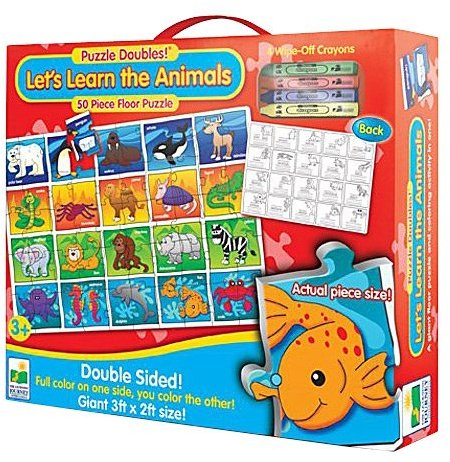 The Learning Journey Puzzle Doubles Let's Learn the Animals Floor Puzzle