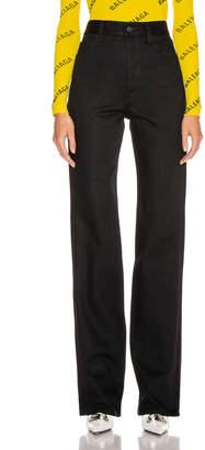 Balenciaga Straight Denim Jean in Black | FWRD