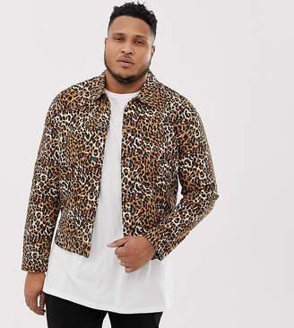 Asos Design DESIGN Plus leopard print denim jacket
