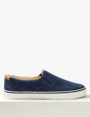 Marks and Spencer Suede Slip-on Pumps with Freshfeet