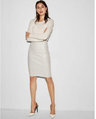 Express high waisted Faux leather pencil skirt