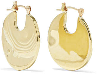 Leigh Miller - Small Paillette Gold-tone Hoop Earrings