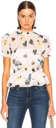 Self-Portrait Self Portrait Graphic Floral Print Top