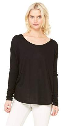 Clementine Apparel Women's Flowy Rib Long Sleeve T-Shirt
