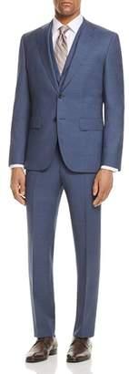 BOSS Micro Birdseye Regular Fit 3-Piece Suit