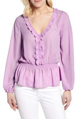 Gibson x International Women's Day Roselyn Ruffle Detail Smock Waist Blouse