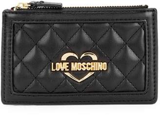 Love Moschino Quilted Coin Purse Wallet