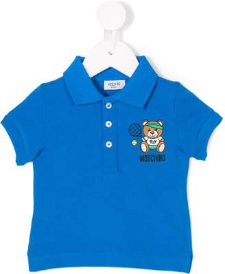 Moschino Kids bear print polo shirt