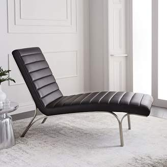 west elm Emil Leather Chaise
