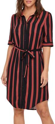 Vero Moda Amaze Striped High-Low Shirtdress