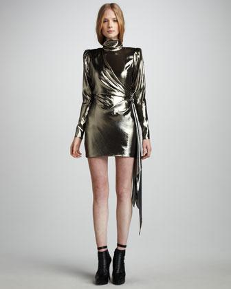 Skaist Taylor Helena Metallic Minidress