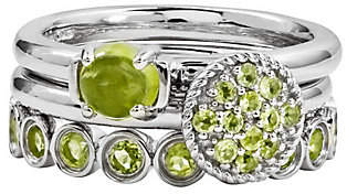 Simply Stacks Sterling Peridot Ring Set