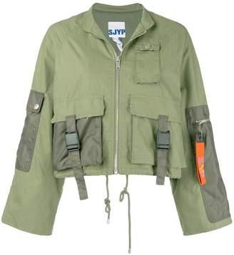 Sjyp cropped zip-up jacket