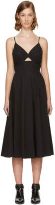 Alexander Wang Black Keyhole V-Neck Dress