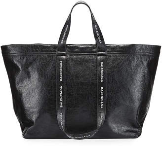 Balenciaga Logo-Strap Carry Shopper Bag
