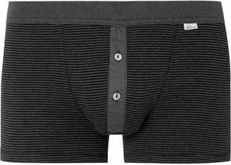 Schiesser Karl Heinz Striped Cotton-Jersey Boxer Briefs