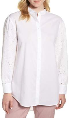 Nordstrom Signature Embroidered Yoke Blouse
