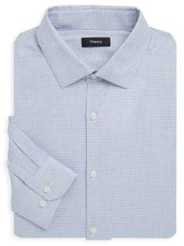 Theory Dover Gingham Dress Shirt