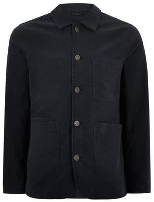 Selected Mens Navy Worker Jacket