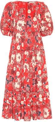 Ulla Johnson Nora floral patchwork midi dress