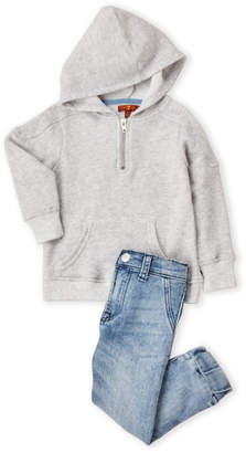 7 For All Mankind Toddler Boys) Two-Piece Hoodie & Jeans Set