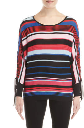 Desigual Layla Striped Dolman Sleeve Sweater