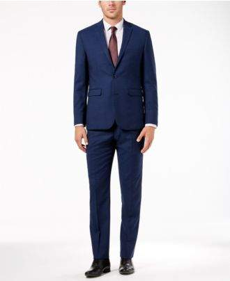 Vince Camuto Men's Slim-Fit Stretch Solid High Blue Wool Suit