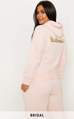 PrettyLittleThing Blush Bridesmaid Slogan Oversized Hoodie