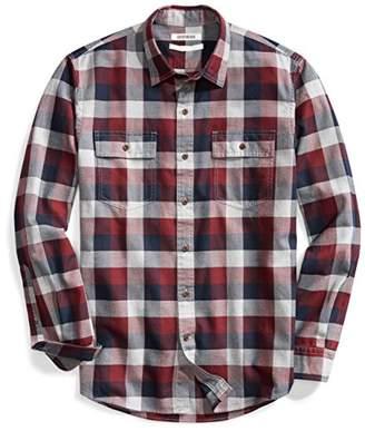 Goodthreads Men's Standard-Fit Long-Sleeve Buffalo Plaid Herringbone Shirt