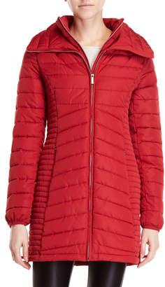 DKNY Lightweight Packable Longline Coat