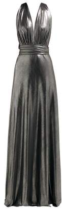 Maria Lucia Hohan Melika Halterneck Lame Maxi Dress - Womens - Silver