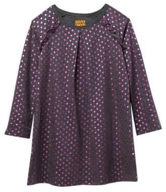 Harper Canyon Ruffle Foil Dress (Toddler & Little Girls)