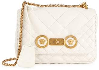 Versace Icon Small Quilted Leather Shoulder Bag