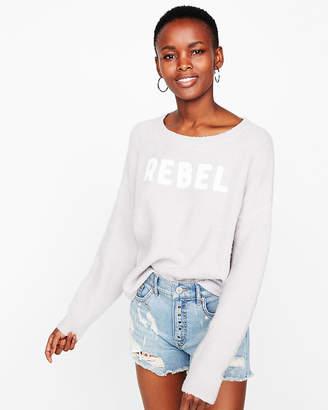 Express Rebel Shirttail Hem Sweater