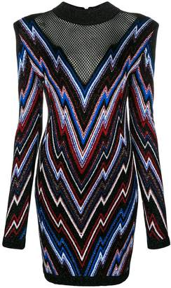 Balmain zig-zag knitted dress