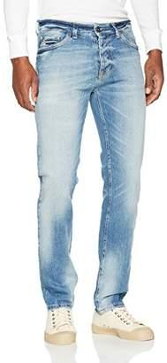 Benetton Men's Raw Denim Jeans Straight Jeans,W34/L33 (Manufacturer Size: 34)