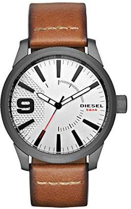 Diesel Men's DZ1803 Rasp Gunmetal IP Leather Watch