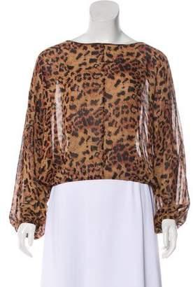 Rachel Zoe Dolman Sleeve Leopard Print Top