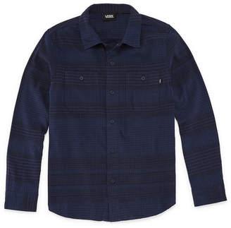 Vans Long Sleeve Button-Front Shirt Boys