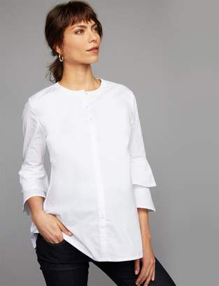Isabella Oliver Button Detail Maternity Blouse
