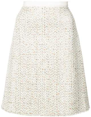 Giambattista Valli A-line tweed skirt