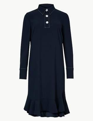 Marks and Spencer Long Sleeve Swing Mini Dress