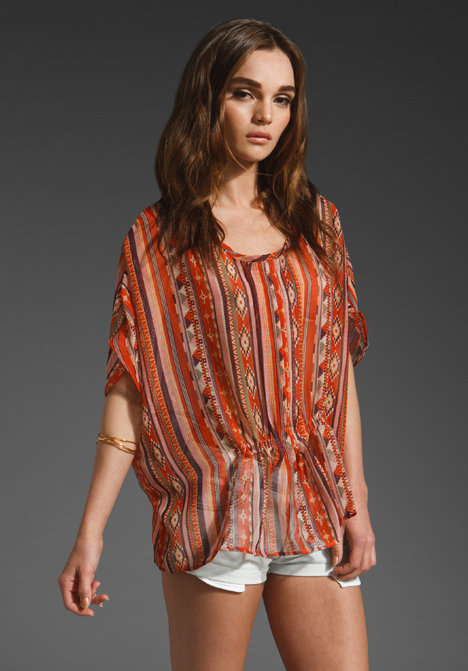 Gypsy Junkies Brentwood Rouched Blouse